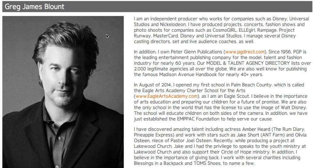 info from Greg James bio